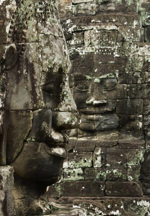 Another view of the faces for which the Bayon temple is famous.
