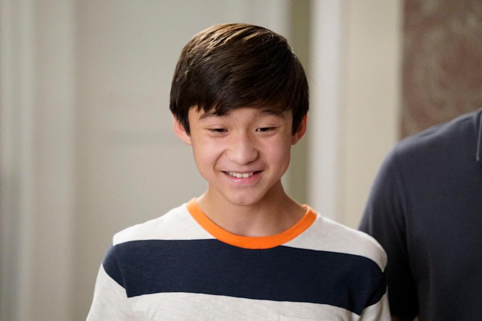 Like his TV brother Hudson, this is Forrest's first major acting role. He plays the Huang family's middle child, and the Chinese-American actor has appeared in Zooey Deschanel's <em>New Girl</em>.