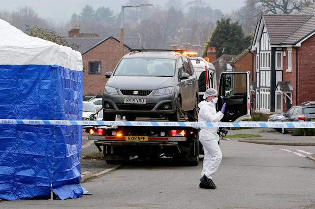 A man has been arrested on suspicion of a double murder after two people were found dead at a property on a quiet village road in the early hours of New Year's Day (SWNS)