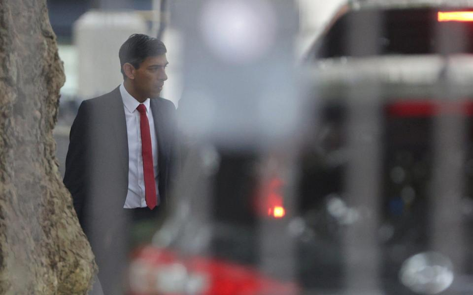 Rishi Sunak, the Chancellor, has been instrumental in breaking three manifesto commitments: foreign aid, the triple lock and tax hikes - Reuters