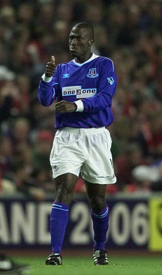 Kevin Campbell scored the only goal of the game when Everton last won at Anfield 20 years ago (Phil Noble/PA)