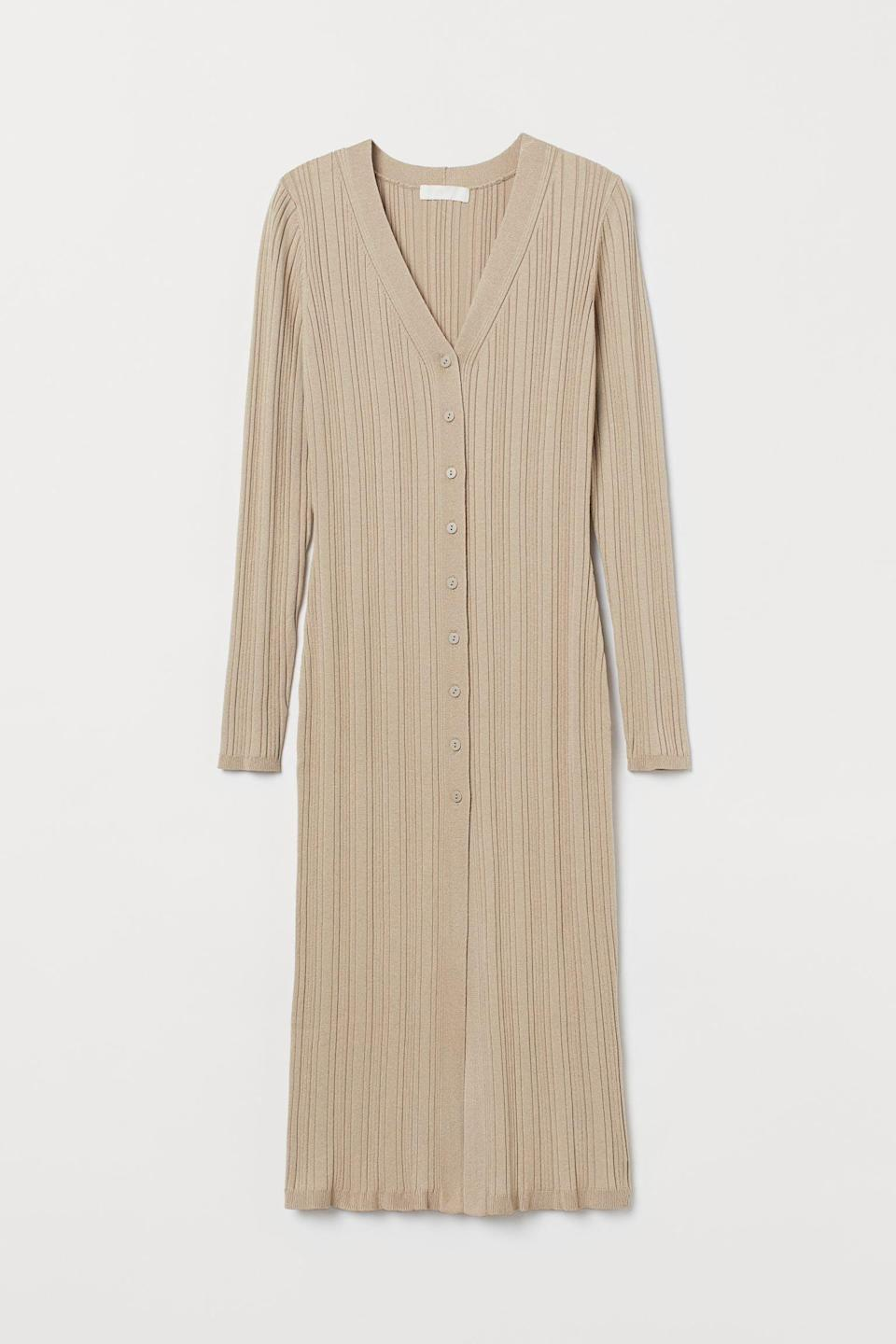 <p>This <span>Long Cardigan</span> ($30) doubles as a chic-looking dress.</p>