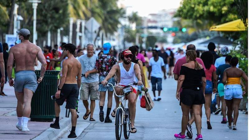Young people seen out in Miami, Florida