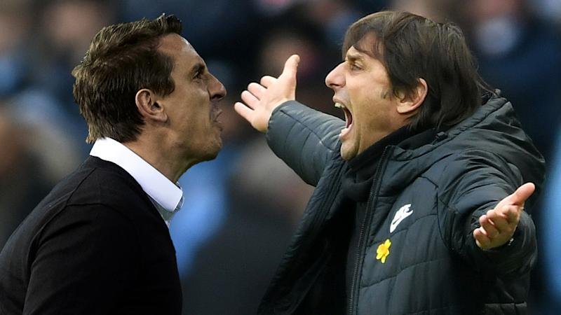 Neville replies to Conte's 'stupid' punditry criticism: Chelsea's display was disgusting!