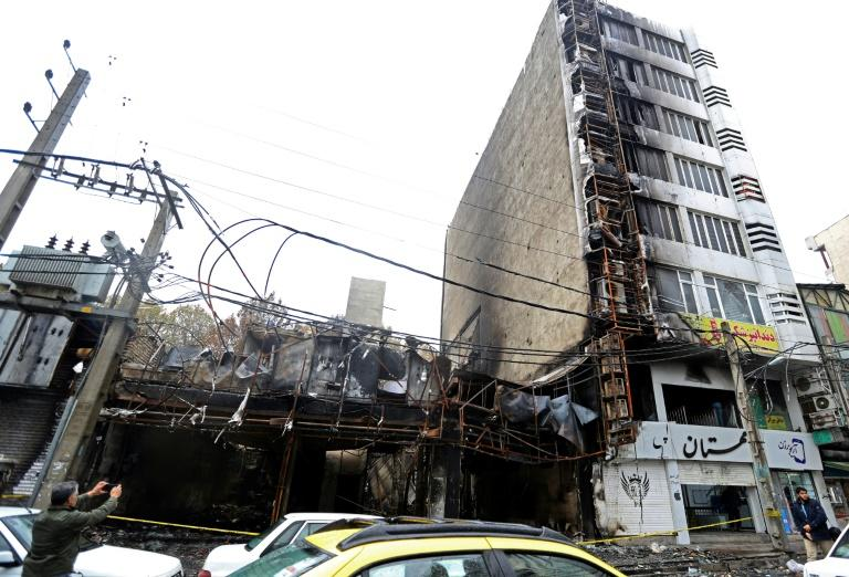 Shops were torched and destroyed during demonstrations against petrol price hikes since last Friday
