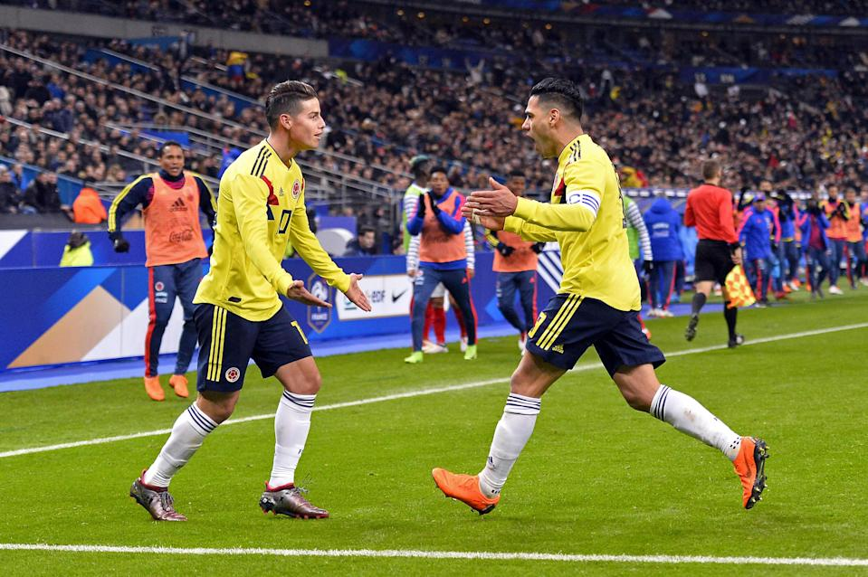 James Rodriquez and Falcao will be the protagonists for Colombia at the 2018 World Cup. (Getty)