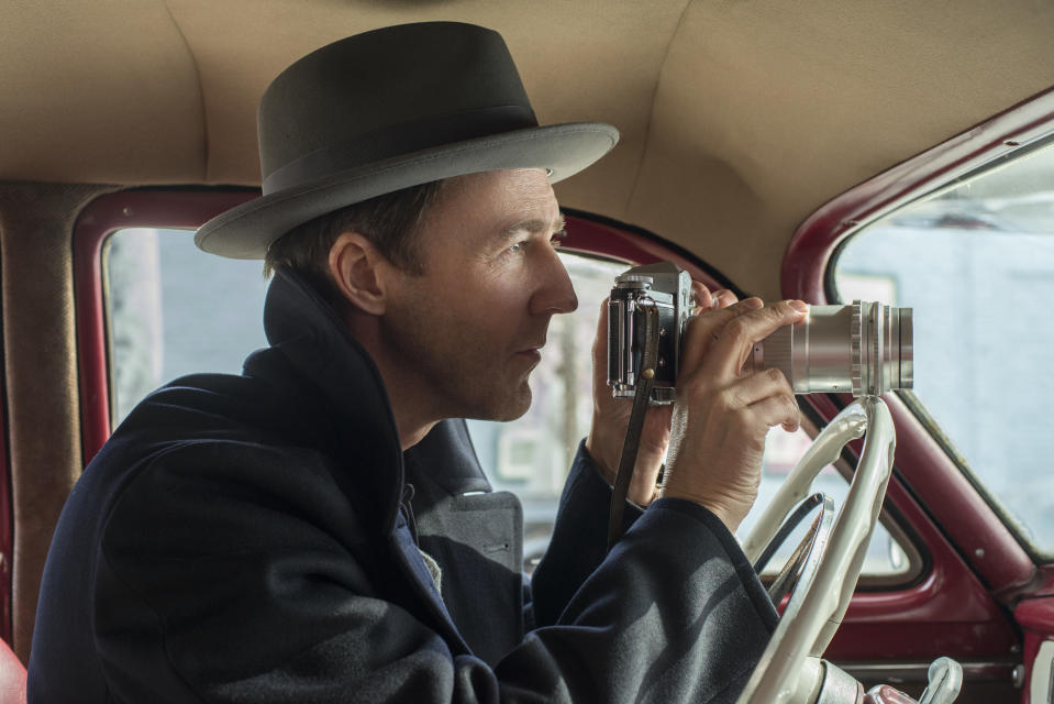 Edward Norton in 'Motherless Brooklyn'. (Credit: Glen Wilson/Warner Bros)