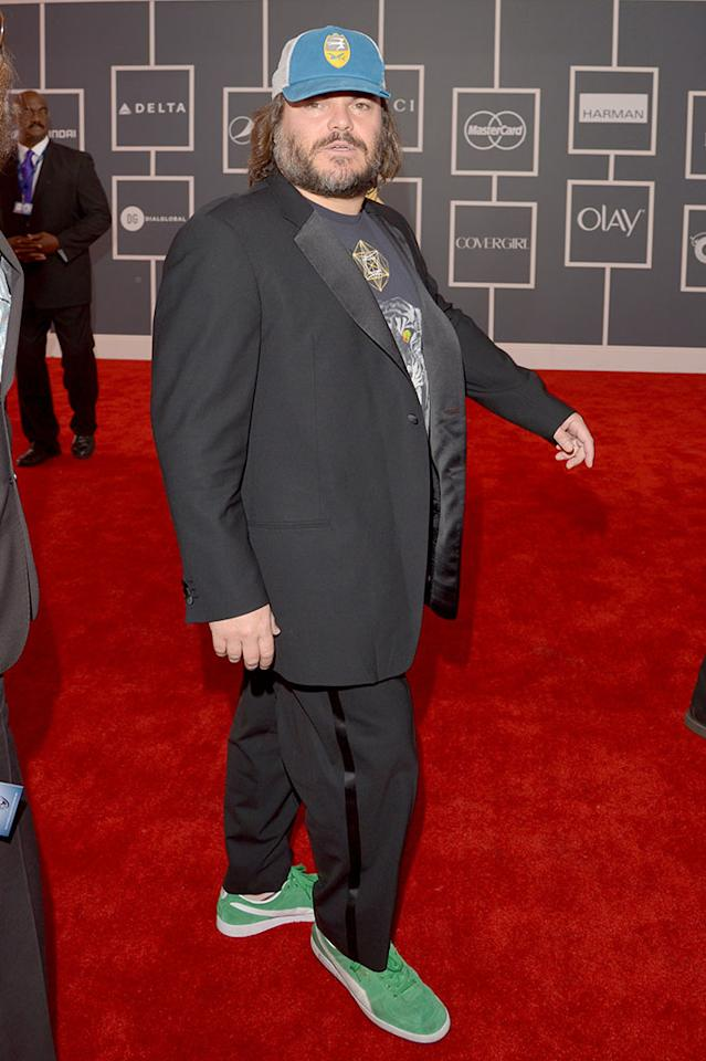 Jack Black of Tenacious D arrives at the 55th Annual Grammy Awards at the Staples Center in Los Angeles, CA on February 10, 2013.