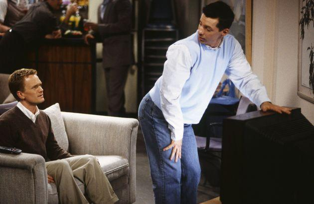 Neil Patrick Harris and Sean Hayes in Will & Grace (Photo: NBC via Getty Images)