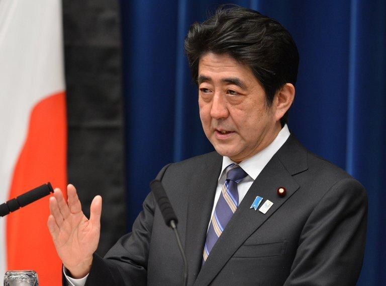 Japanese Prime Minister Shinzo Abe speaks during a press conference  in Tokyo on March 11, 2013