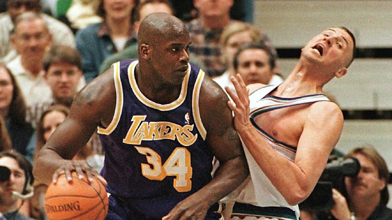 Karl Malone recalls how Shaq slapped Greg Ostertag, 'f—ed him up for the rest of his life'