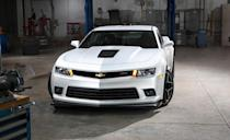 """<p>The Z/28 came back—harder and better than ever before—and the old-school slash in the name came with it. """"The Z/28 is not the quickest, the fastest, or the most powerful Camaro, but it is the most expensive at $75,000, or more than three times the price of a six-cylinder model,"""" <a href=""""http://www.caranddriver.com/reviews/2014-chevrolet-camaro-z-28-road-test-review"""" rel=""""nofollow noopener"""" target=""""_blank"""" data-ylk=""""slk:explained our youthful Eric Tingwall"""" class=""""link rapid-noclick-resp"""">explained our youthful Eric Tingwall</a>. Powered by a naturally aspirated 7.0-liter LS7 V-8 rated at 505 horsepower and wearing enormous 305-mm-wide tires at every corner on 19-inch wheels, the newest Z/28 is optimized and radicalized for on-track dominance. It's a great way to send out the fifth-generation Camaro. Because a new one is coming for 2016.</p>"""