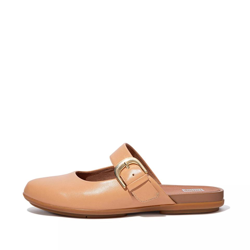 """<br><br><strong>FitFlop</strong> Allegro Mule, $, available at <a href=""""https://go.skimresources.com/?id=30283X879131&url=https%3A%2F%2Fwww.fitflop.com%2Fus%2Fen%2Fshop%2Fallegro-buckle-leather-mules-p-CV8%23668"""" rel=""""nofollow noopener"""" target=""""_blank"""" data-ylk=""""slk:FitFlop"""" class=""""link rapid-noclick-resp"""">FitFlop</a>"""
