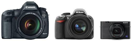 Cameras in three sizes