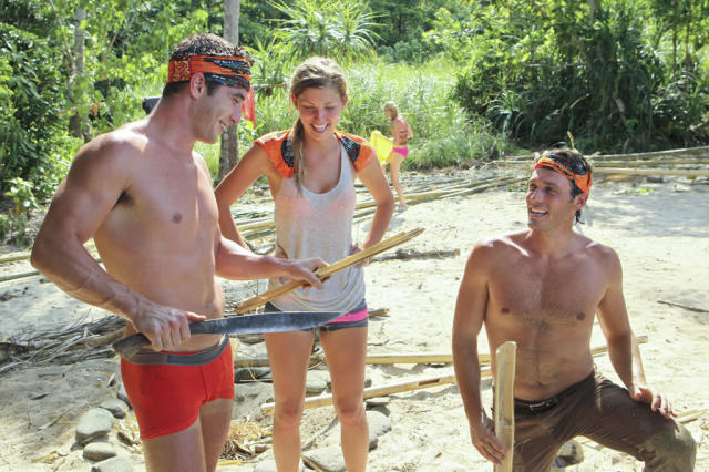 """Premiere"" - Edward ""Eddie"" Fox, Hope Driskill and Reynold Toepfer during the premiere episode of ""Survivor: Caramoan - Fans vs. Favorites."" The Emmy Award-winning series returns for its 26th season with a special 90-minute premiere on CBS."