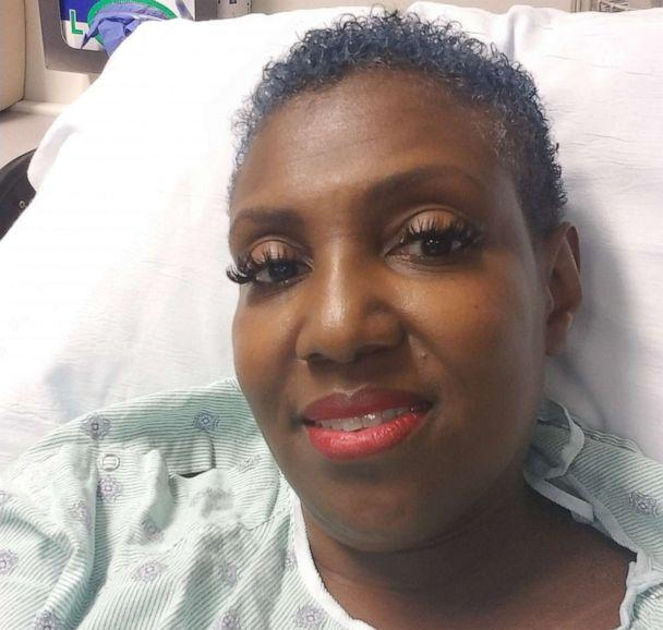 PHOTO: Carletha Cephas at a doctor's appointment while on chemotherapy pills in Los Angeles, Calif., in August 2019. (Courtesy Carletha Cephas)
