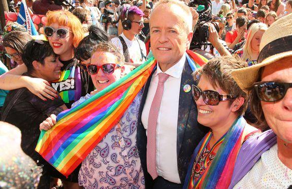 "<img alt=""""/><p><img alt=""""></p> <div><p>Image:  Don Arnold/Getty Images</p></div><p>Love is truly in the air.</p> <p>Australia's overwhelming yes vote in its marriage equality postal survey was announced on Wednesday morning, and nervous supporters gathered around the country to hear the result.</p> <div><p>SEE ALSO: <a rel=""nofollow"" href=""http://mashable.com/2017/11/14/australia-reaction-marriage-equality/"">Australia votes yes to marriage equality and everyone is thrilled</a></p></div> <p>In Melbourne, they gathered in front of the State Library of Victoria. In Sydney, upbeat music blared through Prince Alfred Park at a party full of believers in marriage equality, standing together — prepared for any result, but hoping for a yes. In Canberra, where the announcement took place, politicians also anxiously waited for the result.</p> <p>At 10 a.m. AEDT, the result of the postal survey were handed down, with 61.6 per cent of Australians voting yes. After months, years, decades of stress and fighting — Australia finally said yes to equality. The survey was requested by conservative politicians who opposed marriage equality as a precursor for parliament to vote on marriage equality. Parliament doesn't need the survey to host the vote, but did so anyway, critics say, to stall. </p> <p>There was an outpouring of joy, and of course, plenty of tears.</p> <p><img title=""Senator Penny Wong reacts to the live broadcast of the news."" alt=""Senator Penny Wong reacts to the live broadcast of the news.""></p> <p>Senator Penny Wong reacts to the live broadcast of the news.</p><div><p>Image:  DEAN LEWINS/EPA-EFE/REX/Shutterstock</p></div><p><img title=""A reveler wipes away a tear after the result is announced."" alt=""A reveler wipes away a tear after the result is announced.""></p> <p>A reveler wipes away a tear after the result is announced.</p><div><p>Image:  Don Arnold/Getty Images</p></div><p><img title=""The crowd erupts in front of the State Library of Victoria in Melbourne."" alt=""The crowd erupts in front of the State Library of Victoria in Melbourne.""></p> <p>The crowd erupts in front of the State Library of Victoria in Melbourne.</p><div><p>Image:  scott barbour/Getty Images</p></div><p><img title=""Rebecca Davies and her partner Paula Van Bruggen celebrate in the crowd at the State Library of Victoria."" alt=""Rebecca Davies and her partner Paula Van Bruggen celebrate in the crowd at the State Library of Victoria.""></p> <p>Rebecca Davies and her partner Paula Van Bruggen celebrate in the crowd at the State Library of Victoria.</p><div><p>Image:  Scott Barbour/Getty Images</p></div><p><img title=""Christine Forster, the sister of former Prime Minister Tony Abbott, celebrates in Sydney."" alt=""Christine Forster, the sister of former Prime Minister Tony Abbott, celebrates in Sydney.""></p> <p>Christine Forster, the sister of former Prime Minister Tony Abbott, celebrates in Sydney.</p><div><p>Image:  DAVID MOIR/EPA-EFE/REX/Shutterstock</p></div><p><img title=""People in the crowd celebrate in front of the State Library of Victoria."" alt=""People in the crowd celebrate in front of the State Library of Victoria.""></p> <p>People in the crowd celebrate in front of the State Library of Victoria.</p><div><p>Image:  Scott Barbour/Getty Images</p></div><p><img title=""A couple embrace as supporters celebrate in Sydney."" alt=""A couple embrace as supporters celebrate in Sydney.""></p> <p>A couple embrace as supporters celebrate in Sydney.</p><div><p>Image:  WILLIAM WEST/AFP/Getty Images</p></div><p><img title=""Celebrations in Sydney."" alt=""Celebrations in Sydney.""></p> <p>Celebrations in Sydney.</p><div><p>Image:  Getty Images/cole bennetts</p></div><p><img title="""" alt=""""></p> <div><p>Image:  WILLIAM WEST/AFP/Getty Images</p></div><p><img title=""Qantas CEO Alan Joyce and Magda Szubanski share a moment while hearing the announcement in Sydney."" alt=""Qantas CEO Alan Joyce and Magda Szubanski share a moment while hearing the announcement in Sydney.""></p> <p>Qantas CEO Alan Joyce and Magda Szubanski share a moment while hearing the announcement in Sydney.</p><div><p>Image:  Getty Images</p></div><p><img title=""Tears flow in Sydney."" alt=""Tears flow in Sydney.""></p> <p>Tears flow in Sydney.</p><div><p>Image:  DAVID MOIR/EPA-EFE/REX/Shutterstock</p></div><p><img title=""Leader of the Opposition Bill Shorten is embraced by members of the crowd as they celebrate in Melbourne."" alt=""Leader of the Opposition Bill Shorten is embraced by members of the crowd as they celebrate in Melbourne.""></p> <p>Leader of the Opposition Bill Shorten is embraced by members of the crowd as they celebrate in Melbourne.</p><div><p>Image:  Getty Images/scott barbour</p></div><p><img alt=""""></p> <div><p>Image:  Cole Bennetts/Getty Images</p></div><p><img alt=""""></p> <div><p>Image:  WILLIAM WEST/AFP/Getty Images</p></div><div> <h2><a rel=""nofollow"" href=""http://mashable.com/2017/11/13/drag-queen-trick-iphone-x/"">WATCH: Can this drag queen trick the iPhone X's Face ID?</a></h2> <div> <p><img alt=""Https%3a%2f%2fblueprint api production.s3.amazonaws.com%2fuploads%2fvideo uploaders%2fdistribution thumb%2fimage%2f82967%2f7e1f7535 a028 4885 9984 973f49d6cd0c""></p>   </div> </div>"