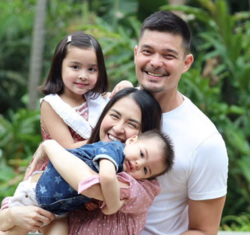 Marian Rivera with husband Dingdong Dantes and their two children