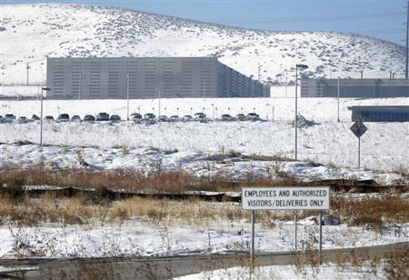 NSA data gathering facility in Bluffdale, south of Salt Lake City, Utah