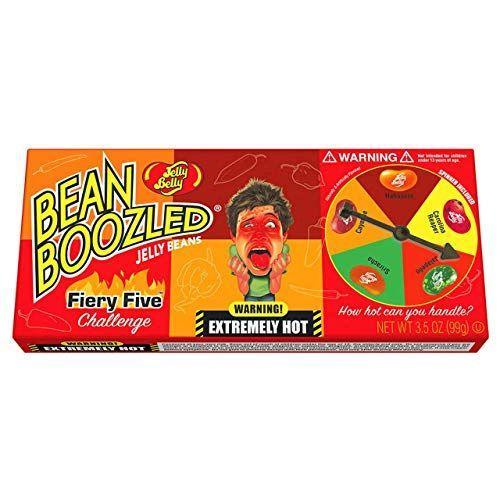 """<p><strong>Jelly Belly</strong></p><p>amazon.com</p><p><strong>$9.25</strong></p><p><a href=""""https://www.amazon.com/dp/B082XJ2QDR?tag=syn-yahoo-20&ascsubtag=%5Bartid%7C10050.g.4357%5Bsrc%7Cyahoo-us"""" rel=""""nofollow noopener"""" target=""""_blank"""" data-ylk=""""slk:Shop Now"""" class=""""link rapid-noclick-resp"""">Shop Now</a></p><p>Does your dad love the spice? He will get a kick out of the Fiery Five challenge. Flavors start at Jalapeño and end at very spicy Carolina Reaper! </p>"""