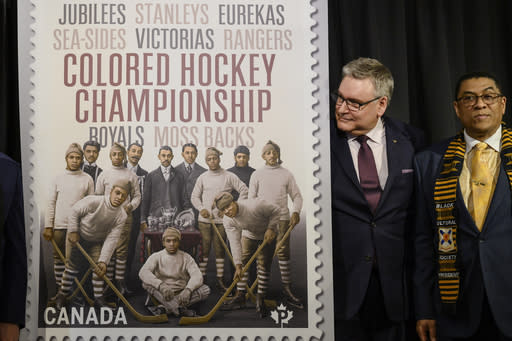 Canada stamps honor on pre-NHL all-black hockey league