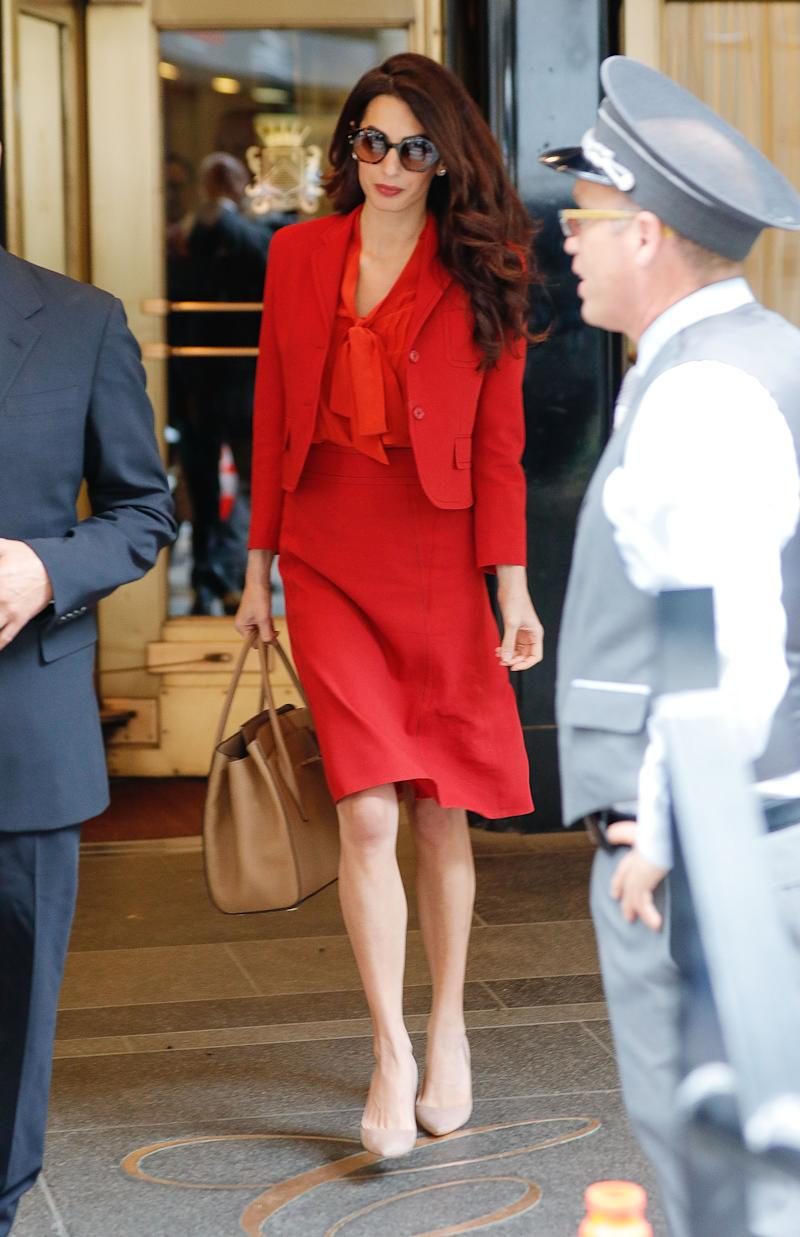 Amal Clooney Returns To Work