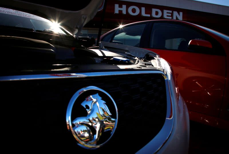 FILE PHOTO: Holden cars are pictured at a dealership located in Perth