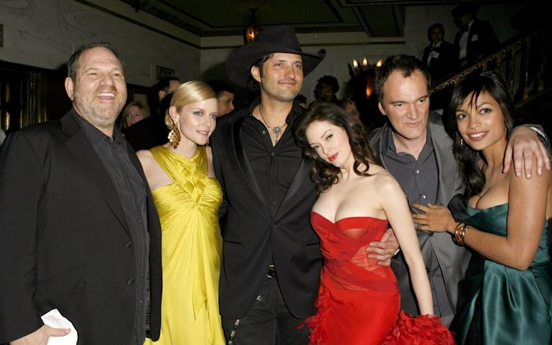 Harvey Weinstein, Marley Shelton, Robert Rodriguez, Rose McGowan, Quentin Tarantino and Rosario Dawson - WireImage