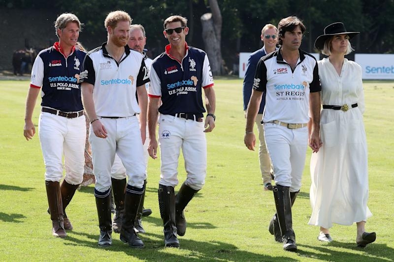 Harry's polo friend Nacho (second from right) says the prince will call a hotel out if it uses too much plastic. [Photo: Getty]