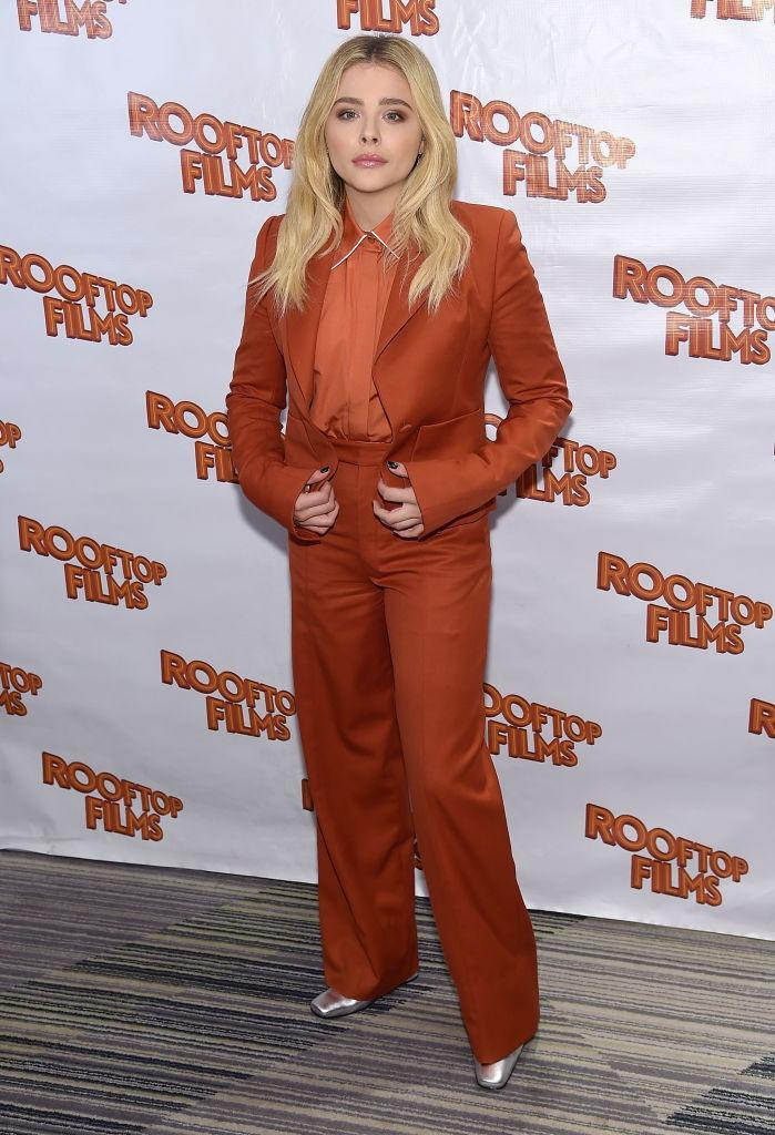 <p>On 31 July, Chloë Moretz demonstrated her sartorial prowess once more in a slick two-piece suit and silver boots for the New York screening of 'The Miseducation of Cameron Post'. <em>[Photo: Getty]</em> </p>