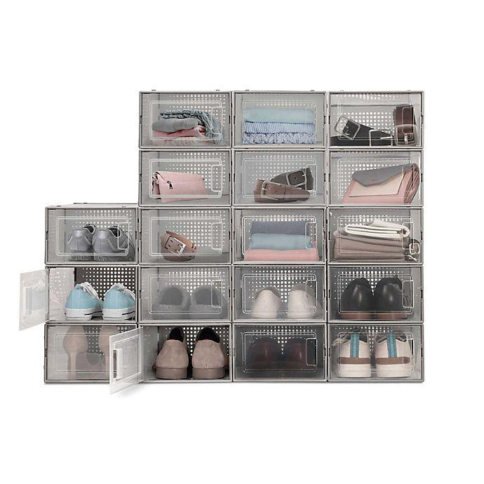 """<h2>20% Off Swing Front Shoe Storage Bins (Set of 6)</h2><br>Readers doubling down on spring cleaning stocked up on sets of these see-through storage containers that are perfect for shoes and other small things. <br><br><em>Shop <strong><a href=""""https://www.bedbathandbeyond.com/store/product/swing-front-shoe-storage-bins-set-of-6/5419120"""" rel=""""nofollow noopener"""" target=""""_blank"""" data-ylk=""""slk:Bed Bath & Beyond"""" class=""""link rapid-noclick-resp"""">Bed Bath & Beyond</a></strong></em><br><br><strong>Bed Bath & Beyond</strong> Swing Front Shoe Storage Bins (Set of 6), $, available at <a href=""""https://go.skimresources.com/?id=30283X879131&url=https%3A%2F%2Fwww.bedbathandbeyond.com%2Fstore%2Fproduct%2Fswing-front-shoe-storage-bins-set-of-6%2F5419120%3F"""" rel=""""nofollow noopener"""" target=""""_blank"""" data-ylk=""""slk:Bed Bath & Beyond"""" class=""""link rapid-noclick-resp"""">Bed Bath & Beyond</a>"""