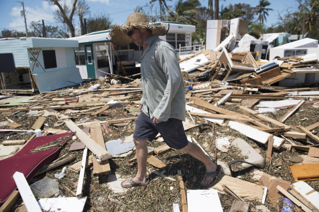 Hurricane Irma struck the Florida Keys as a Category Four storm earlier this month, before making its way north through the southern US state (AFP Photo/SAUL LOEB)