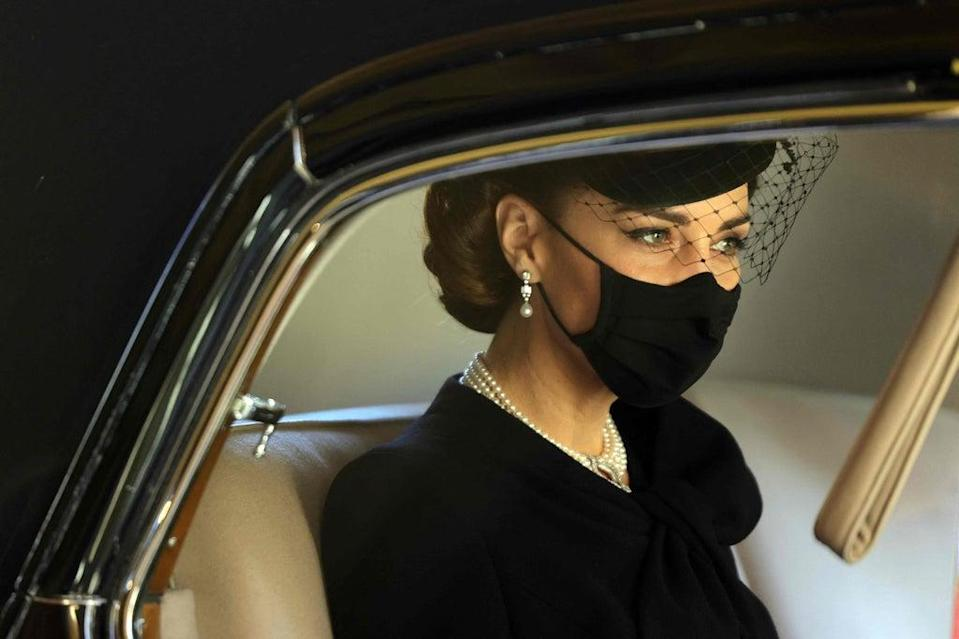 The Duchess of Cambridge attending Prince Philip's funeral  (POOL/AFP via Getty Images)