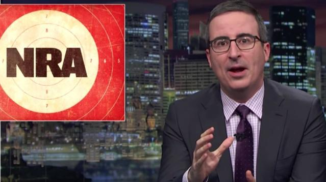 John Oliver: NRATV Is Like A 'Deranged Letter From A Serial Killer'