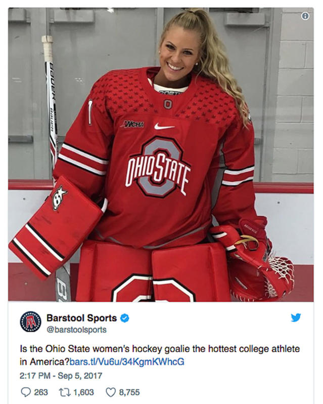 "<p>As you likely can imagine, Barstool Sports took massive blowback after tweeting a story asking if Ohio State women's hockey goalie Maggie Cory was ""the hottest college athlete in America."" Barstool eventually pulled both the story and the tweet, but only after Cory had kindly asked them to. </p>"