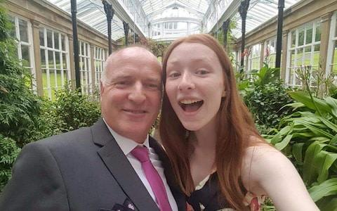 Ceara Thacker with her father Iain.  - Credit: Family Handout/PA