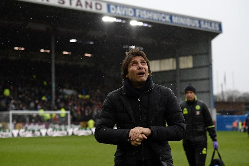 """Chelsea coach Antonio Conte said it was """"a little early"""" to start talking about winning the Premier League and FA Cup 'Double' again (AFP Photo/Oli SCARFF)"""