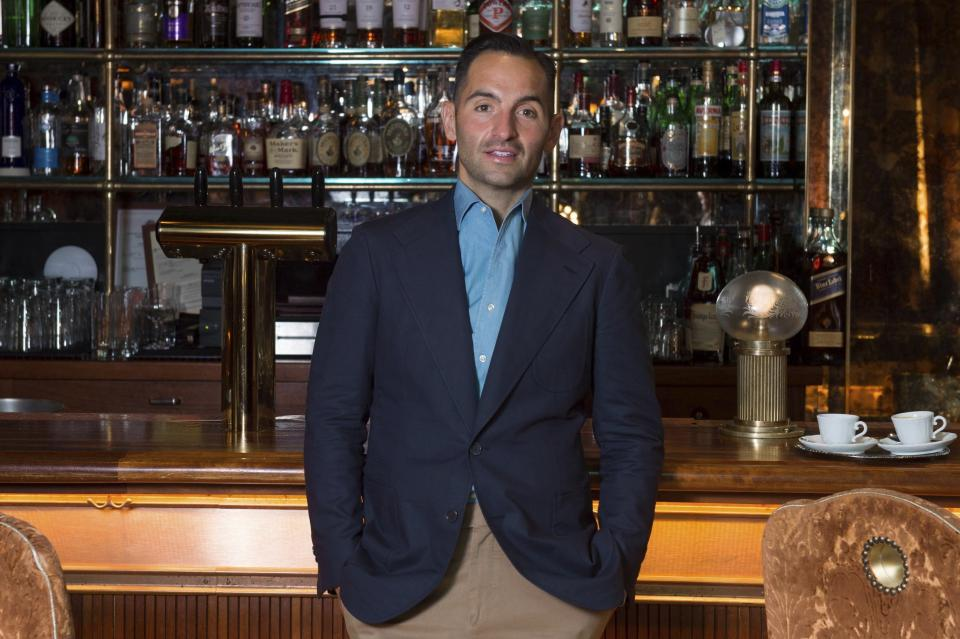 Chef Mario Carbone poses for a photo at Carbone on Thursday, May 20, 2021, in Miami Beach, Fla. (Photo by Scott Roth/Invision/AP)