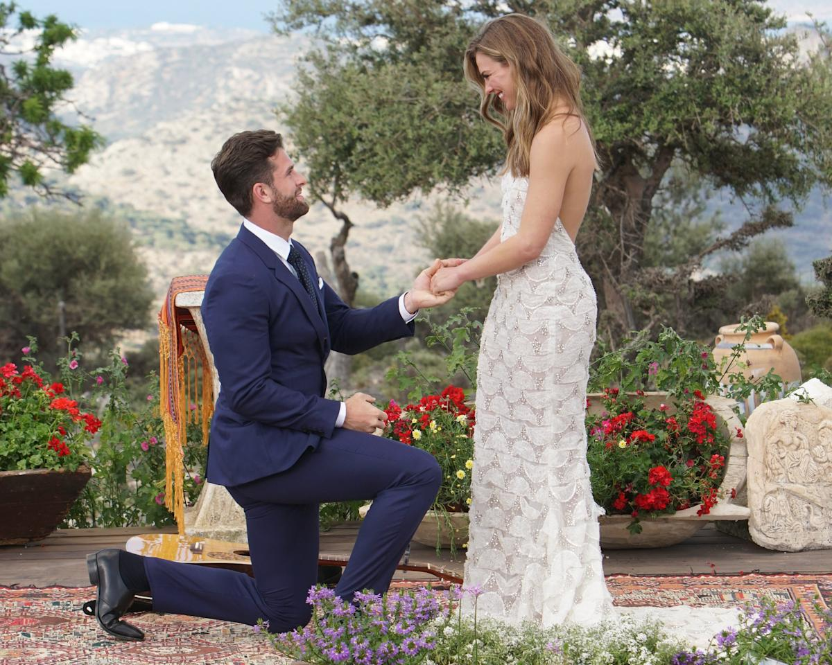"The ring Jed Wyatt gave Hannah Brown didn't stay on her finger for long, after <a href=""https://people.com/tv/bachelorette-hannah-brown-ends-engagement-jed-wyatt-finale/"">allegations of cheating during her season</a> surfaced. So where's the ring now? <a href=""https://people.com/style/hannah-brown-engagement-ring-jed-wyatt-proposal/"">Lane says he doesn't know</a>: ""Once they pick out the ring, it's not mine anymore no matter what happens — at that point I can only hope it brings the couple happiness."""