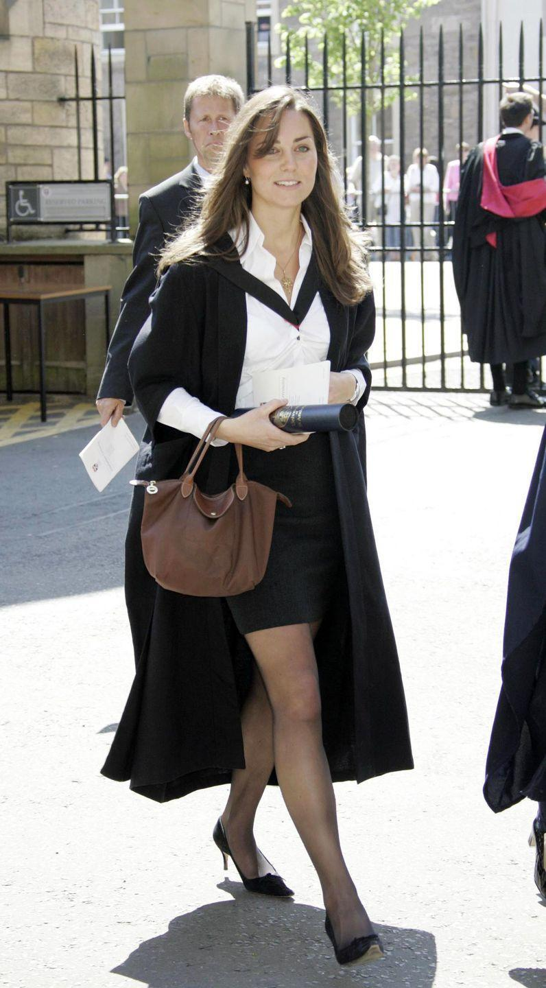 <p>Walking to her graduation ceremony at St. Andrew's in Scotland. </p>