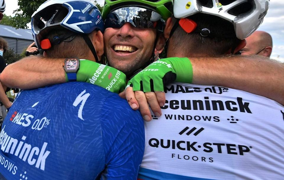 Mark Cavendish and Julian Alaphilippe - Mark Cavendish interview: 'I'm going to get better, I wasn't even back to my best this year' - GETTY IMAGES