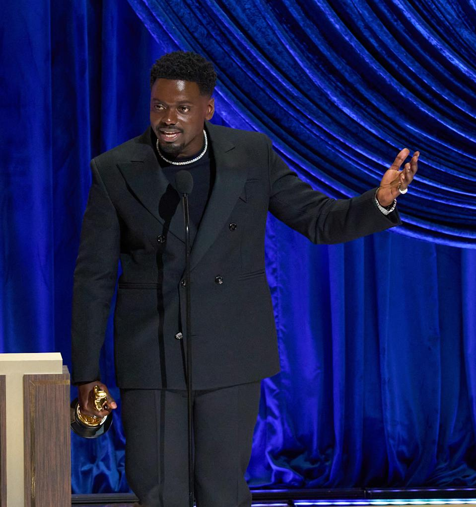 Kaluuya's winning speech took an unexpected turnA.M.P.A.S. via Getty Images