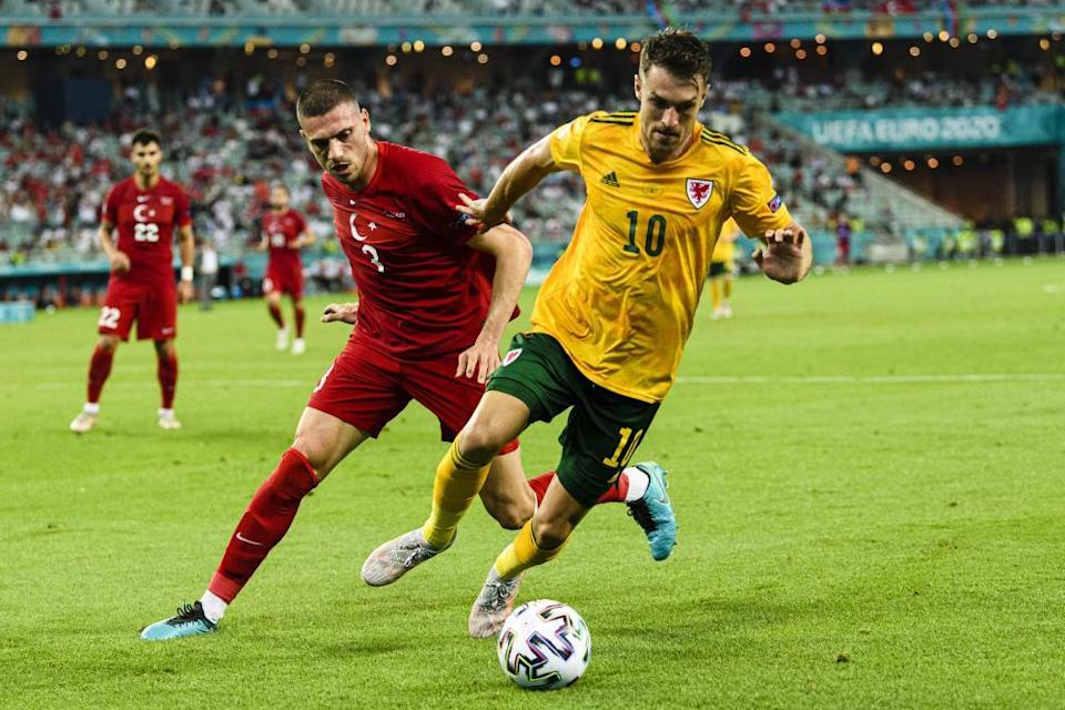 'Against Turkey Aaron Ramsey (right) and Daniel James seemed to be running through a haze of light, drunk on the air, the moment, the noises.'