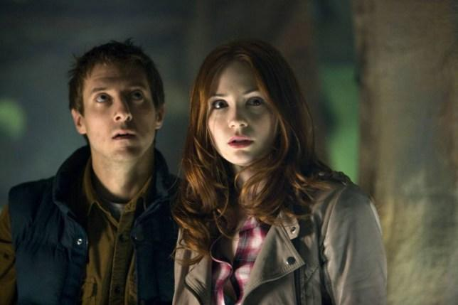 Arthur Darvill and Karen Gillan as Rory and Amy (Credit: BBC)
