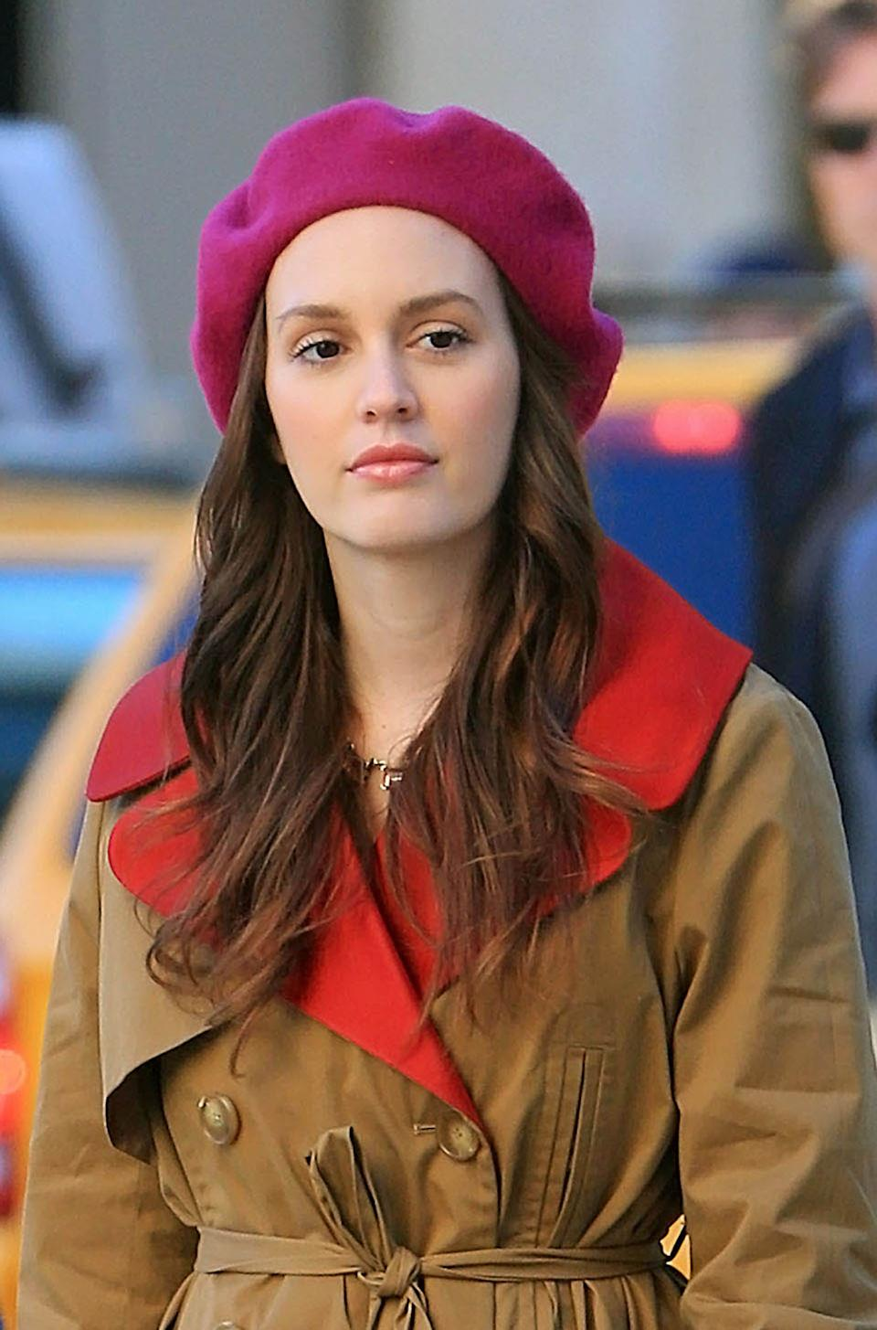 NEW YORK, NY - OCTOBER 01:  Leighton Meester as seen on the set of