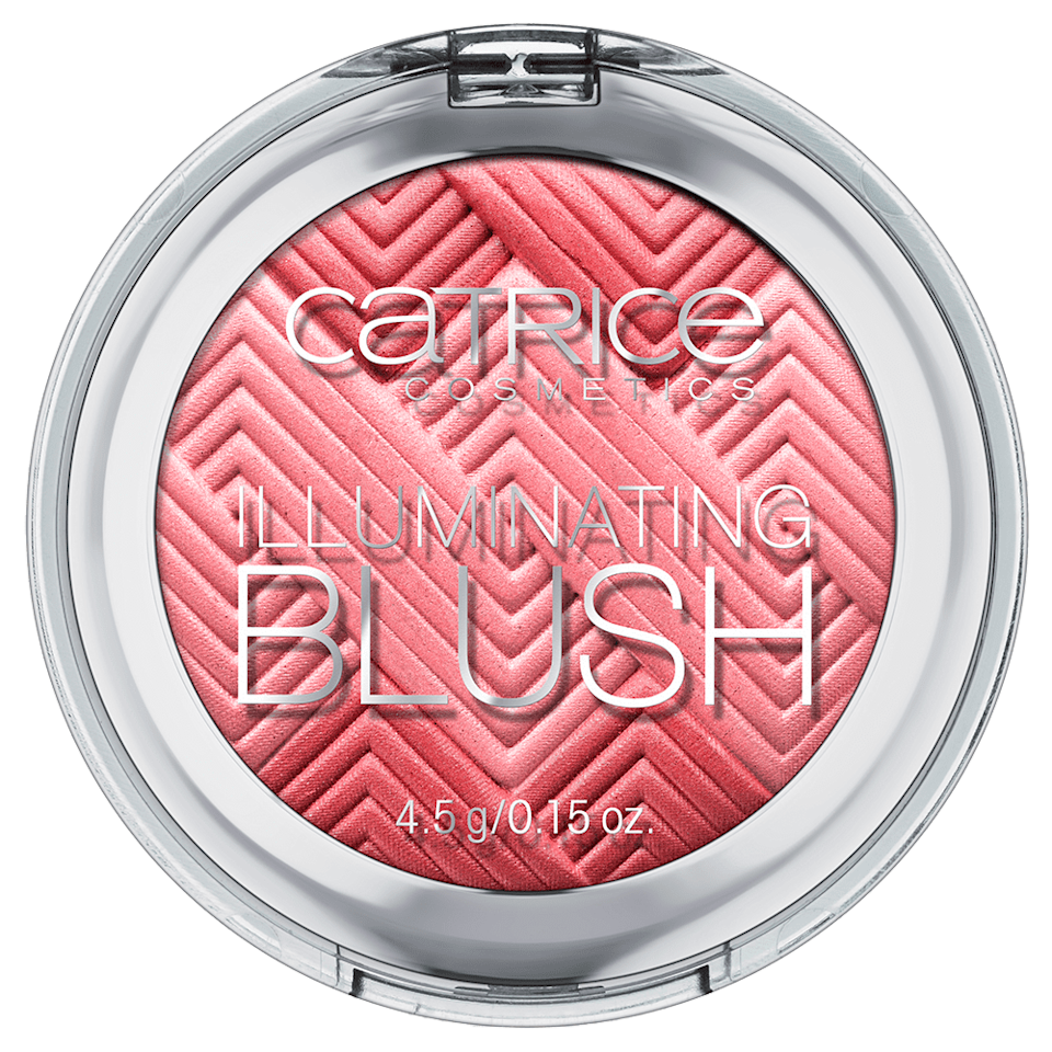 <p>Sesnek's neon blush pick: the <span>Catrice Illuminating Blush in Coral Me Maybe</span> ($6), a hot coral shade. The powder blush contains shimmery, pearlescent pigments in it to really illuminate your cheeks. </p>