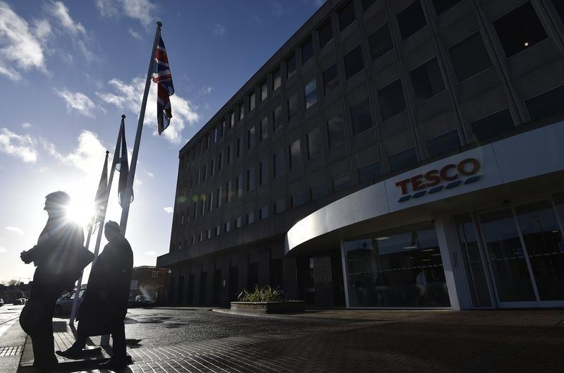 The head office of Tesco is seen in Cheshunt, in southern England