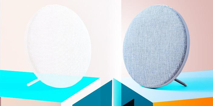 """<div class=""""caption""""> With its round shape and fabric exterior, this wireless speaker looks more like decor than tech, and that's a compliment. <br> <a href=""""https://amzn.to/36hQpMv"""" rel=""""nofollow noopener"""" target=""""_blank"""" data-ylk=""""slk:SHOP NOW"""" class=""""link rapid-noclick-resp"""">SHOP NOW</a>: Sphere Wireless Bluetooth Speaker by Photive, $38, amazon.com<br> </div> <cite class=""""credit"""">Photo courtesy of West Elm</cite>"""