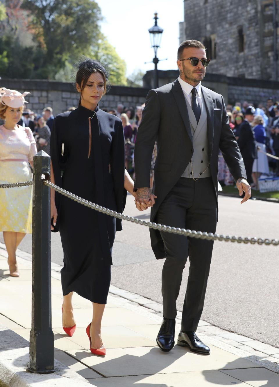 David and Victoria Beckham have also arrived.