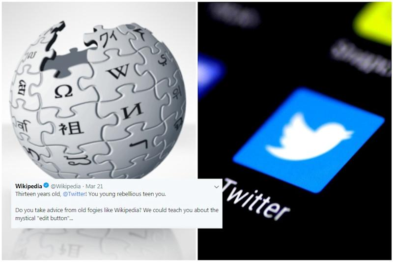 Wise Wikipedia Schools 'Rebel Teen' Twitter on 13th Birthday with 'Mystical' Edit Button Joke